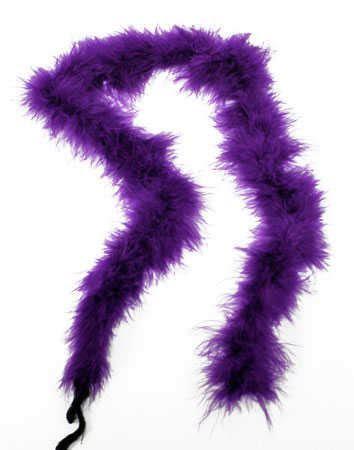Purple Marabou Feather Boa   Feathers   Basic Craft