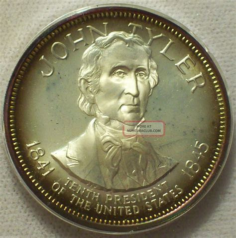 ?1967 Sterling Silver Presidential Coin Medal John Tyler
