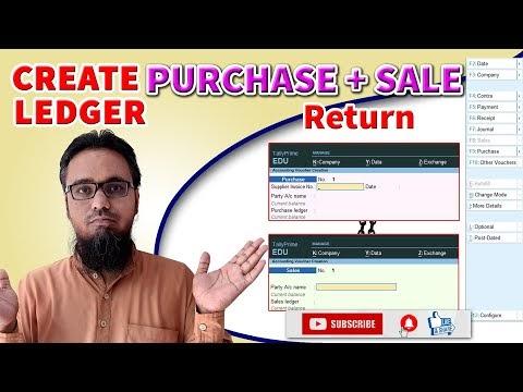 Create Purchase and Sales Return Ledger in Tally Prime | टेली प्राइम में परचेज रिटर्न और सेल्स रिटर्न की लेजर कैसे बनाएं