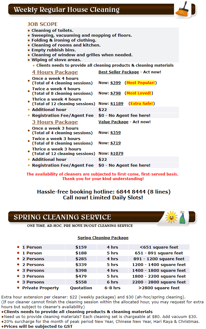 Singapore Carpet Cleaning - House Cleaning Services