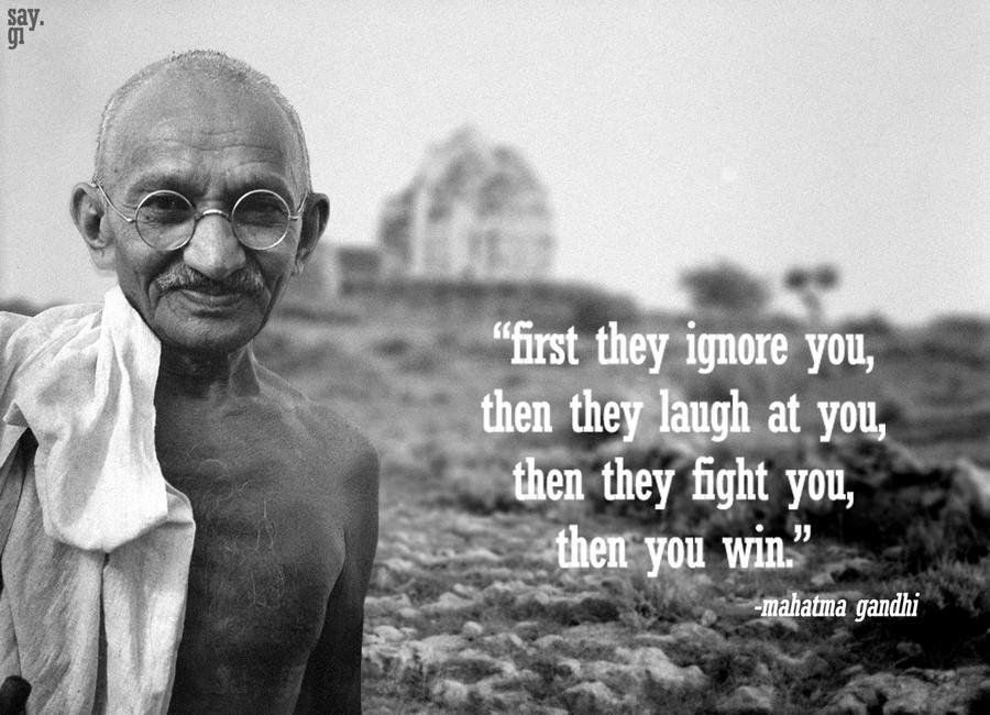 Picture of Gandhi with quote