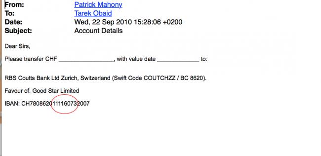Good Star's Zurich account