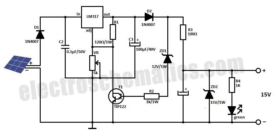 Solar Panel 12v Battery Charger Circuit Diagram Circuit Diagram Images
