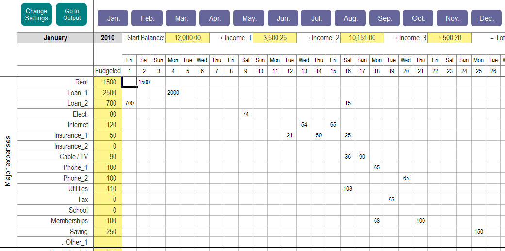 Excel Personal Expense Tracker