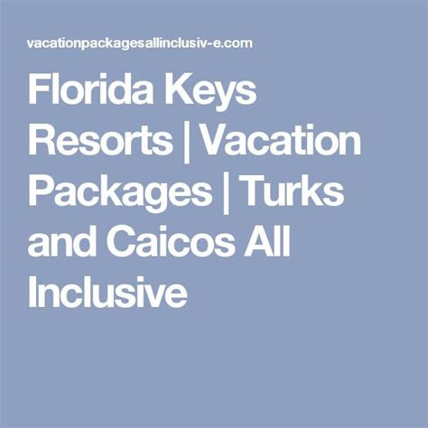 florida keys vacation packages ideas  pinterest