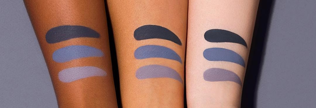 Kat Von D Everlasting Liquid Lipstick Gray Trio Swatches