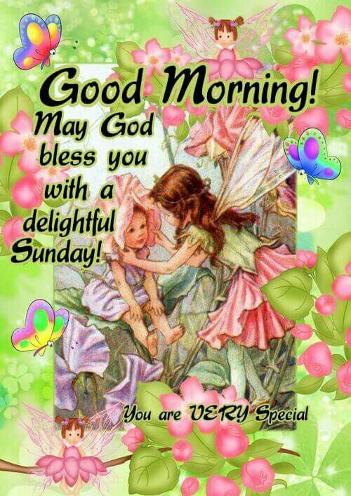 Good Morning May God Bless You With A Delightful Sunday Pictures