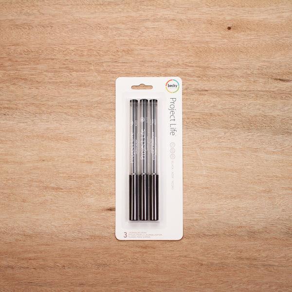 Black Journaling Pens - 3 Pack