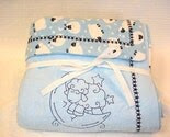 Lamb Jumping over the Moon/ Lambs,Moon and Stars Double Flannel Blanket OOAK