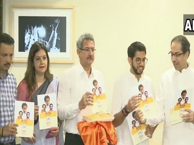 Shiv Sena released it manifesto for Maharashtra on Saturday. ANI