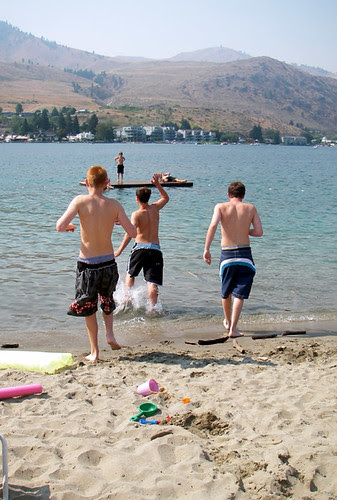 Kids in Lake Chelan
