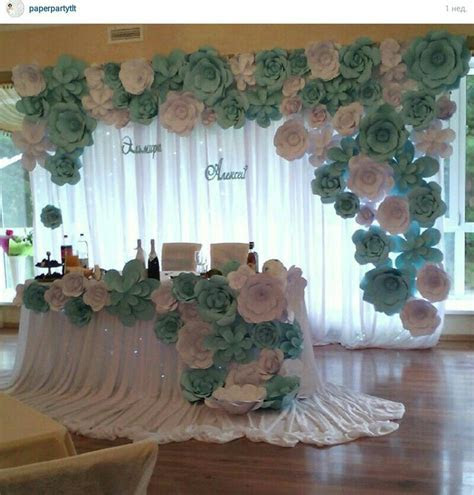 decor studio La Fleur   decor   Paper flower backdrop