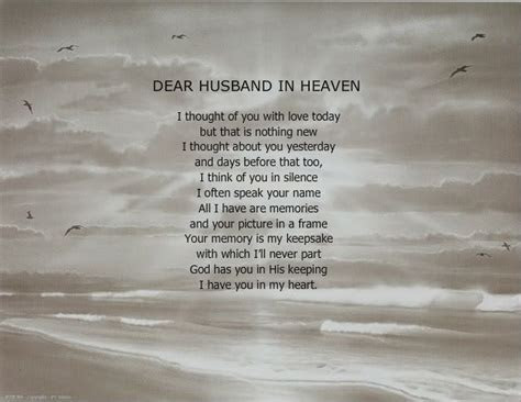 Missing husband in Heaven Quotes   DEAR HUSBAND IN HEAVEN