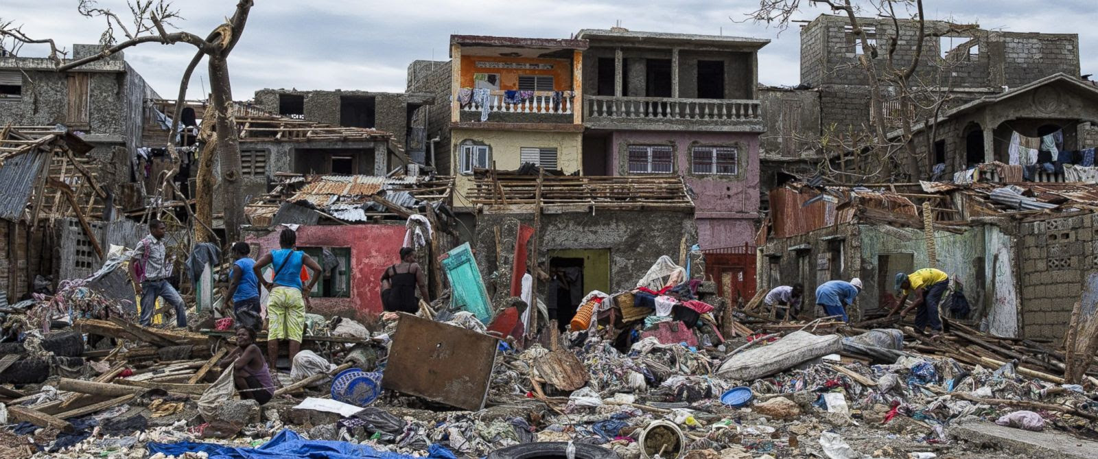 PHOTO: A handout picture provided on Oct. 7, 2016 by MINUSTAH shows the destruction in the city of Jeremie, Haiti, on Oct. 6, 2016, in the west of the country, suffered the greatest destruction as a result of Category 4 Hurricane Matthew.