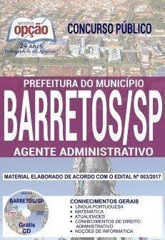 Apostila Concurso Prefeitura de Barretos 2018 | AGENTE ADMINISTRATIVO