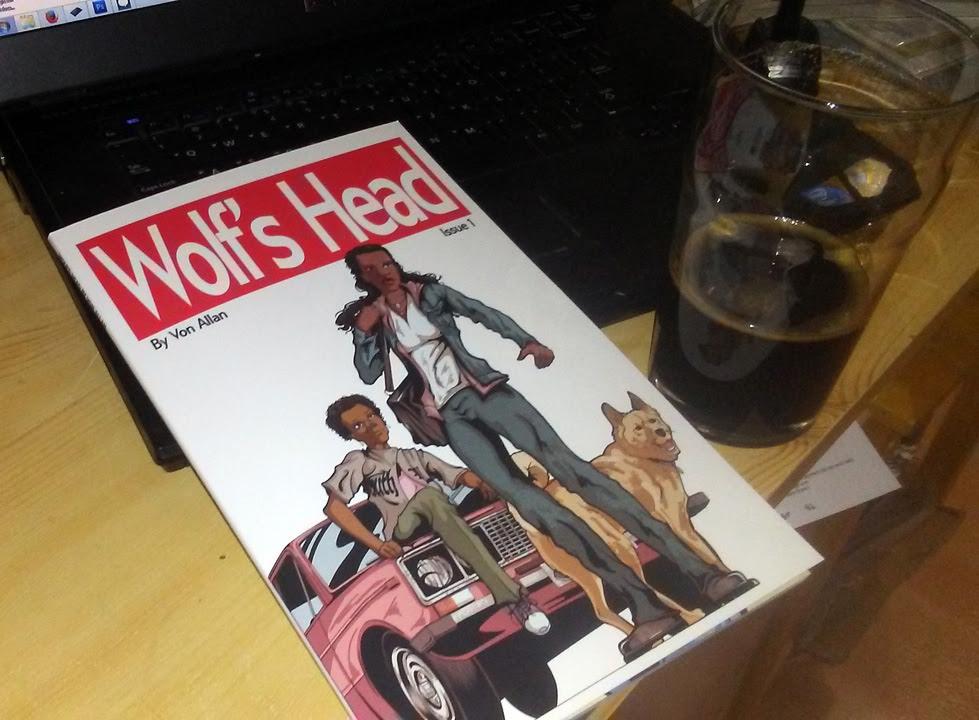 Printer proof copy of WOLF'S HEAD issue 1 by Von Allan
