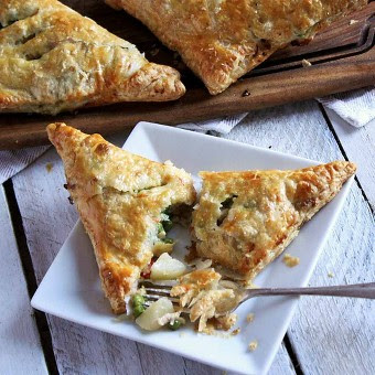 Flaky Turkey Pot Pie Turnovers