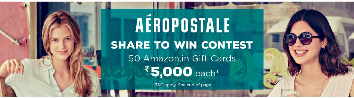 Share to win contest. 50 Amazon.in Gift Cards Rs 5000 each. *TNC apply