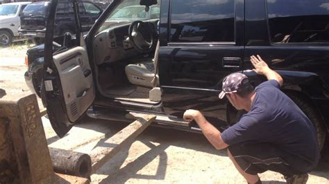 escalade running board  repaired    pick
