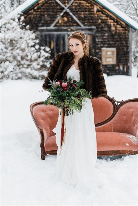 New Hampshire Winter Mountain Wedding Inspiration