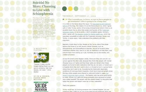 Suicidal No More: Life with Schizophrenia