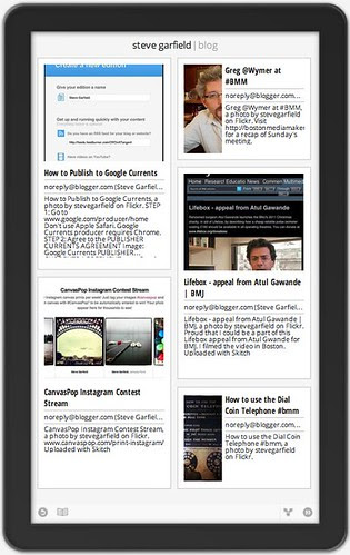 Google Currents producer: Steve Garfield Blog