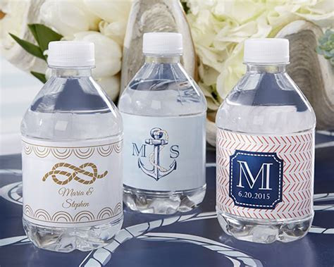 Personalized Water Bottle Labels   Nautical Wedding