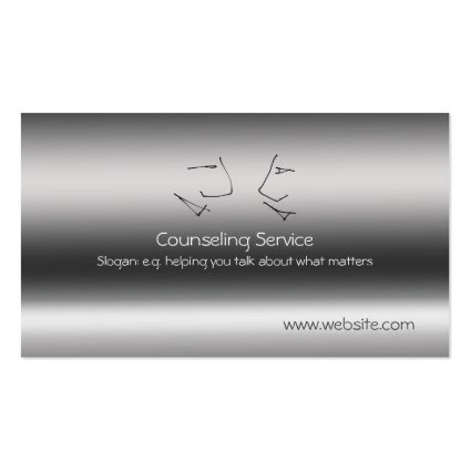 Talking Heads, Counselor, metallic-effect Double-Sided Standard Business Cards (Pack Of 100)