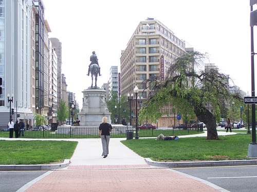 A rebuilt Thomas Circle begins to show some signs of life