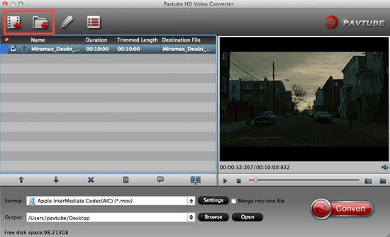 Load Sony XW-FS5 XAVC/AVCHD video files
