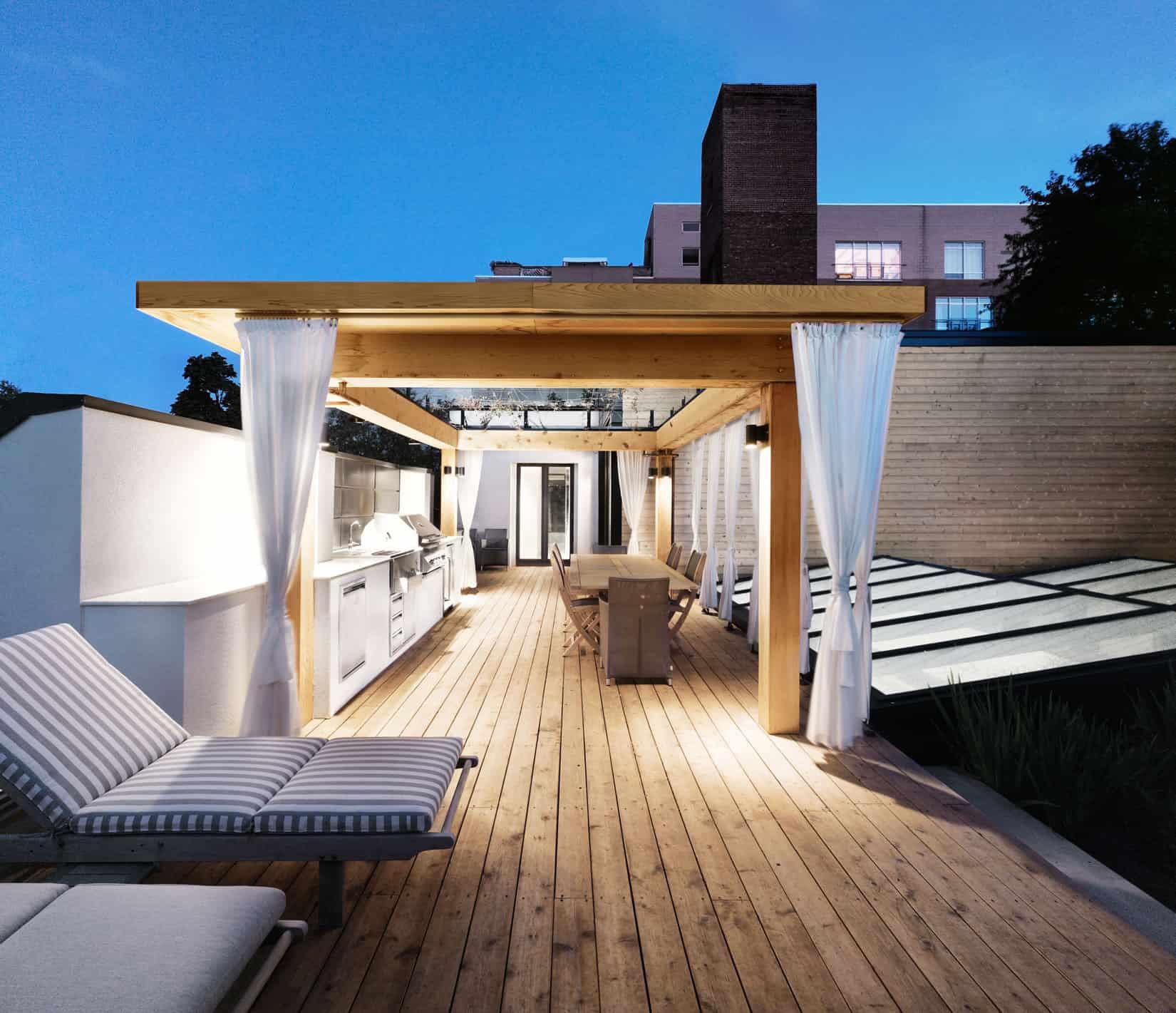 Modern House Plans Roof Deck Design For Home
