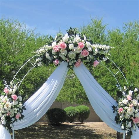 7.5 Ft White Metal Tall Arch Wedding Garden Bridal Party