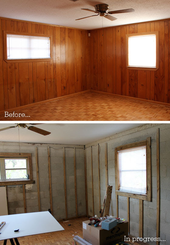 Removing Wood Paneling Before And After Loris Decoration