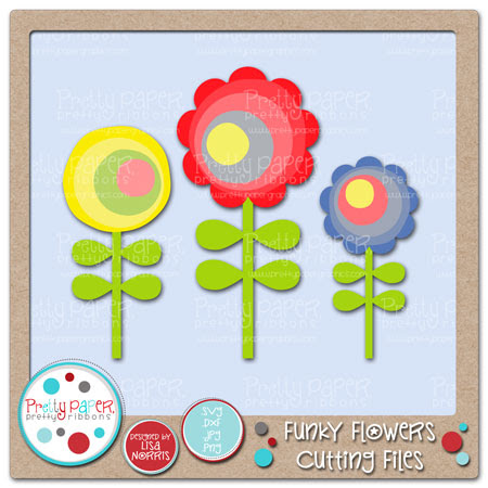 Funky Flowers Cutting Files