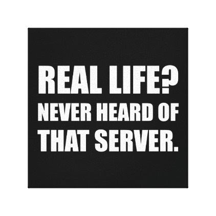 Real Life Never Heard Server Canvas Print