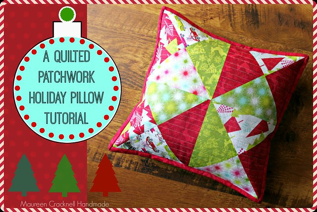 Hip Holiday Quilted Patchwork Pillow