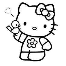 Hello Kitty Portrait Coloring Pages Hellokidscom