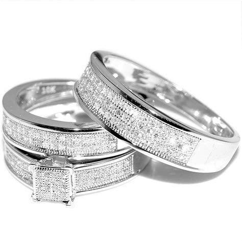 Beautiful White Gold Wedding Ring Sets for Women   Matvuk.Com