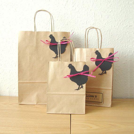 Hen party bags set of 5 MEDIUM 18cm x 25cm x 8cm by shintashop