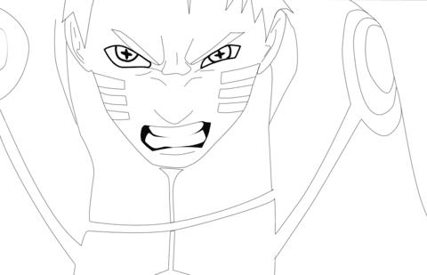 Dibujo De Naruto Hokage Para Colorear Dibujos Para Colorear