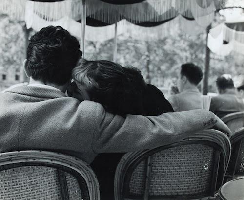 lauramcphee:  Lovers, Sunday Morning at Champs-Élysées, Paris, 1951 (Bert Hardy)