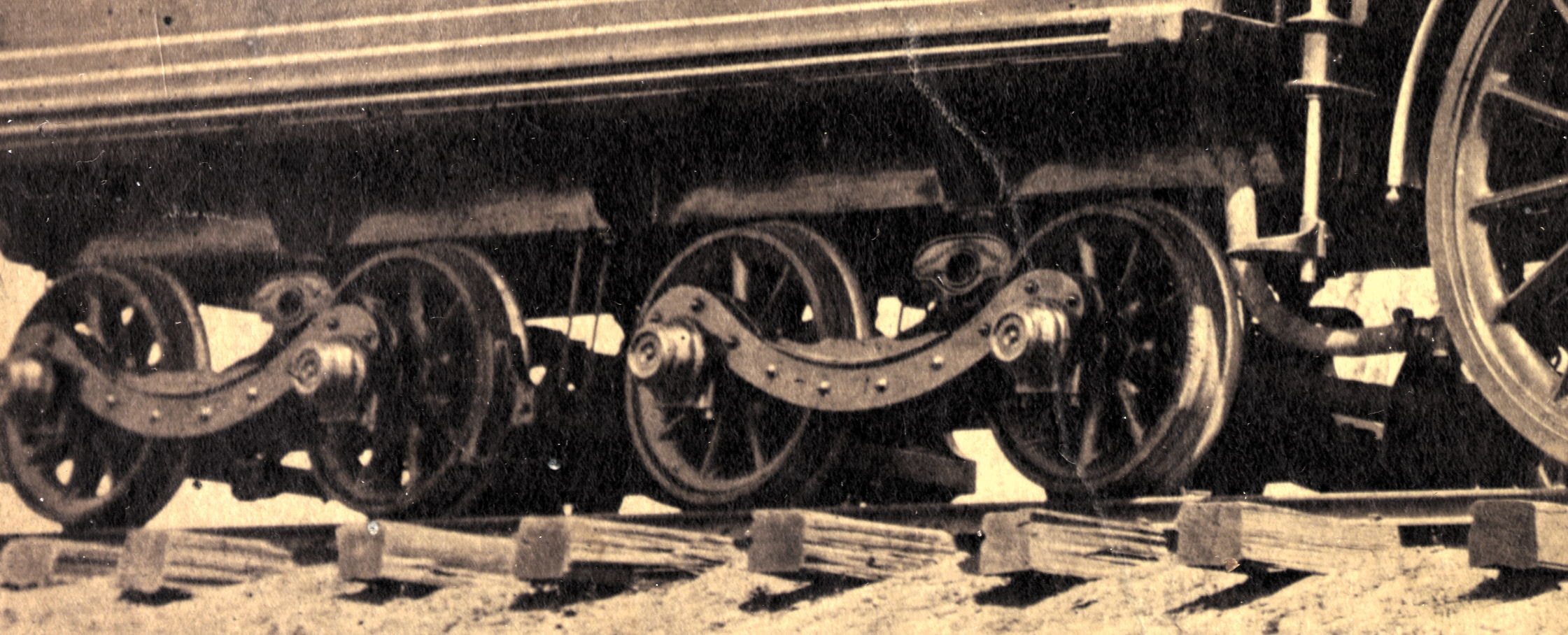 Antelope's tender trucks, detail