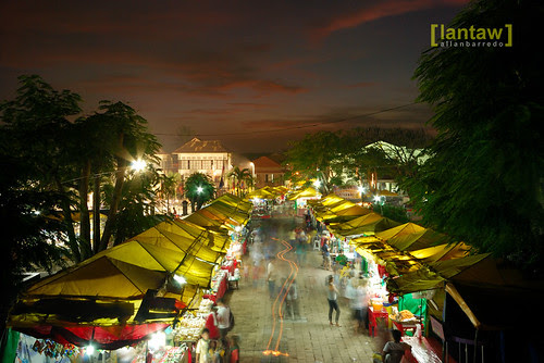 Night Market after sundown (in front of the Taal Basilica)