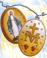 Medalla milagrosa según las visiones de Catherine Labouré en la iglesia de Rue du Bac