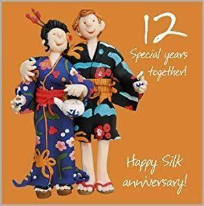 12th Wedding Anniversary Card: Amazon.co.uk: Kitchen & Home