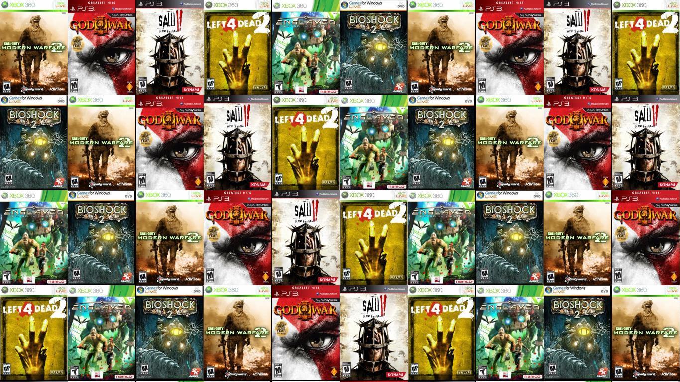 Call Duty Modern Warfare 2 God War 3 Wallpaper Tiled