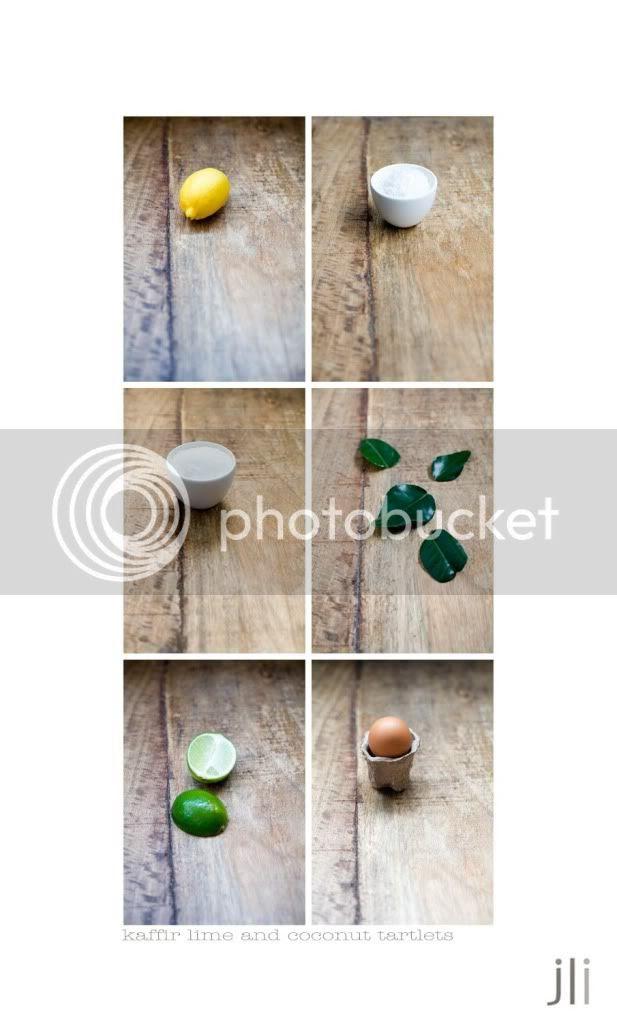 kaffir lime and coconut tartlets