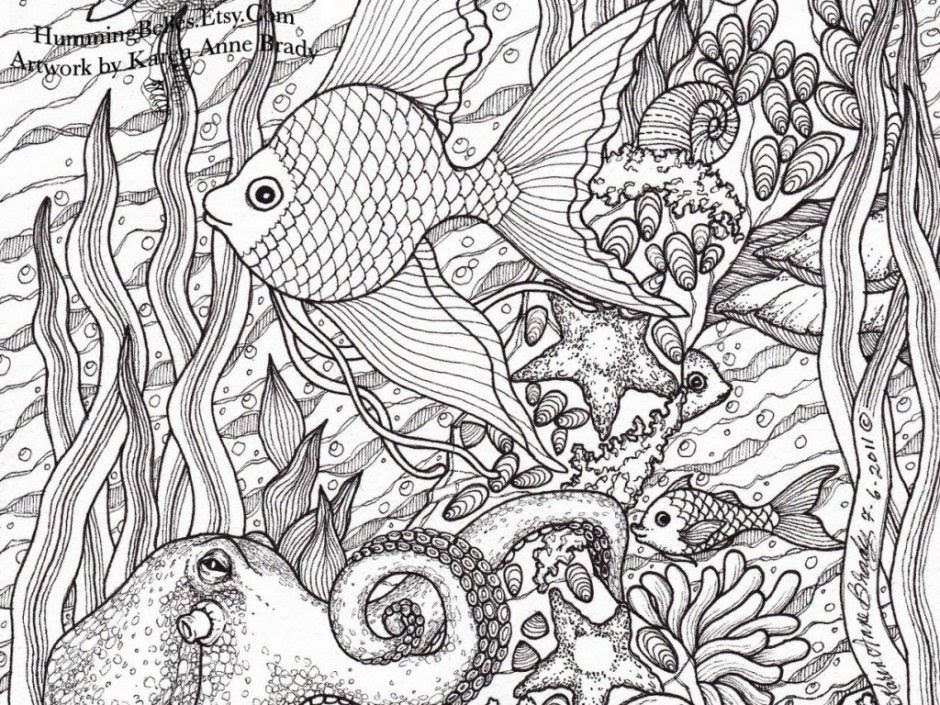 Detailed Fish Coloring Pages - Coloring Home