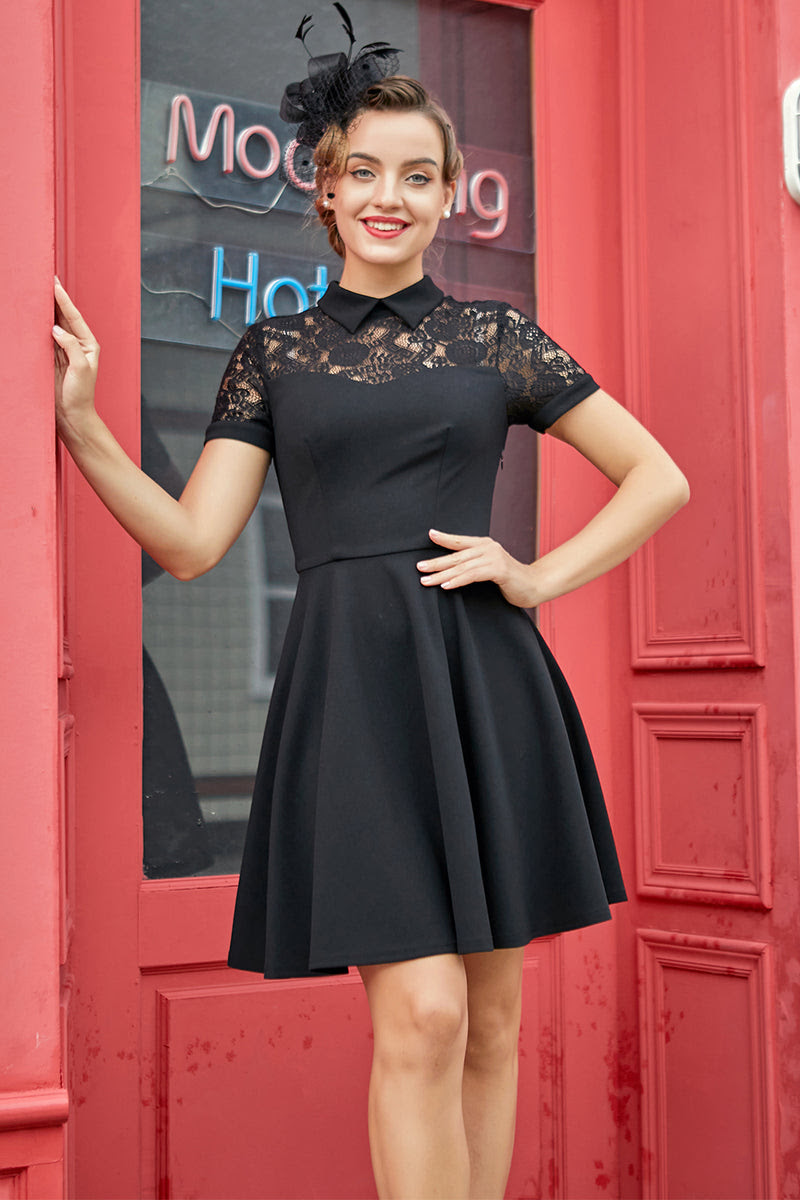 schwarzes vintage kleid