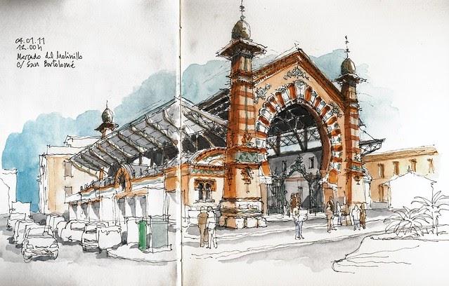 Arquitectura Del Siglo 20 Of Urban Sketchers Spain El Mundo Dibujo A Dibujo